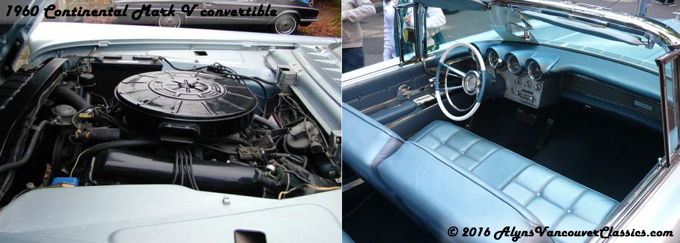1960-Continental-Mark-V-convertible-engine-interior