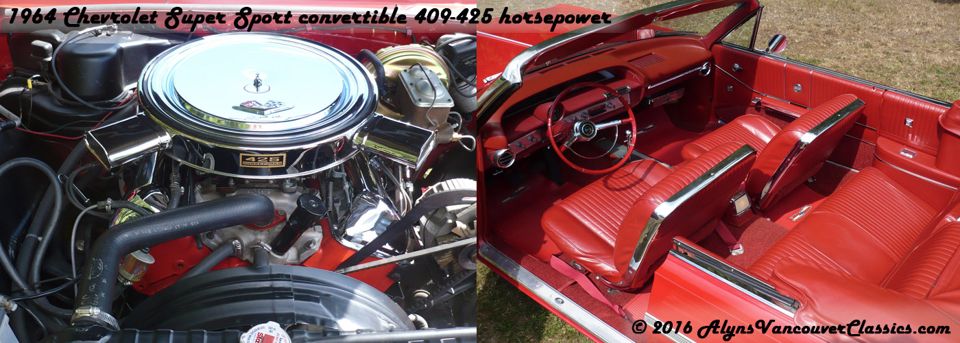 1964-Chevrolet-Super-Sport-convertible-409-425-horsepower-engine-interior-